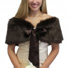 Sable Dark Brown Faux Fur Shawl (Small to Large)