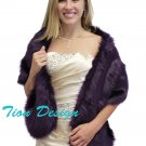 Purple Faux Fur Stole, faux fur wrap, faux fur shawl, fur shrug