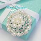 Wedding Brooch Vintage Pearl Brooch FREE US Shipping