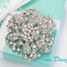 Wedding Brooch, Bridal Wedding Austrian Hair Pin #3065
