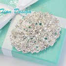 Bridal Crystal Vintage Brooch CN56C Free US Shipping