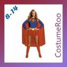 Superman Super Girl Heroine Wonderwoman Long Cape Fancy Dress Costume