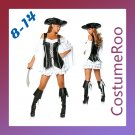 Caribbean Pirate Sailor Captain Sexy Heroine Fancy Dress Costume