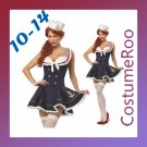 Blue Navy Sailor Uniform 50s Pin Up Pirate Fancy Dress Costume