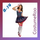 Blue Navy Sailor Uniform Cute Ship Pirate Fancy Dress Costume