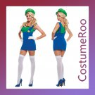 Ms Super Mario Luigi Brothers Plumber Fancy Dress Costume