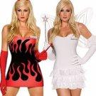 Heavenly Devil Angel Costume Fancy Dress Costume