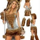 Wolf Costume Animal Party Fluffy Fancy Dress