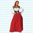 Long Oktoberfest Maid Costume Beer Fancy Dress