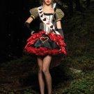 Deluxe Royal Red Queen of Heart Alice in Wonderland Costume Fancy Dress