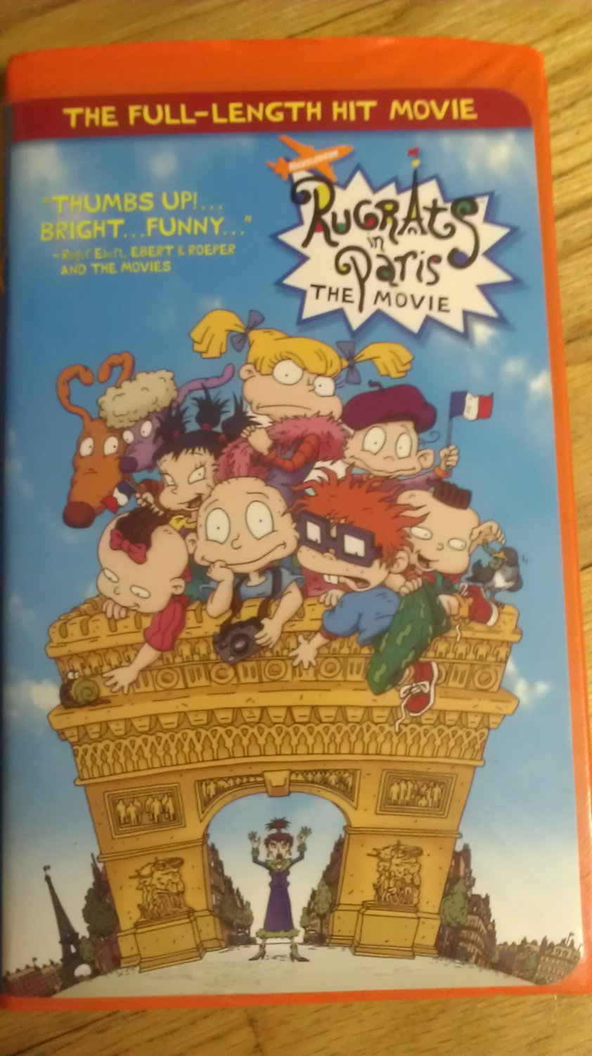 rugrats in paris the movie vhs clamshell