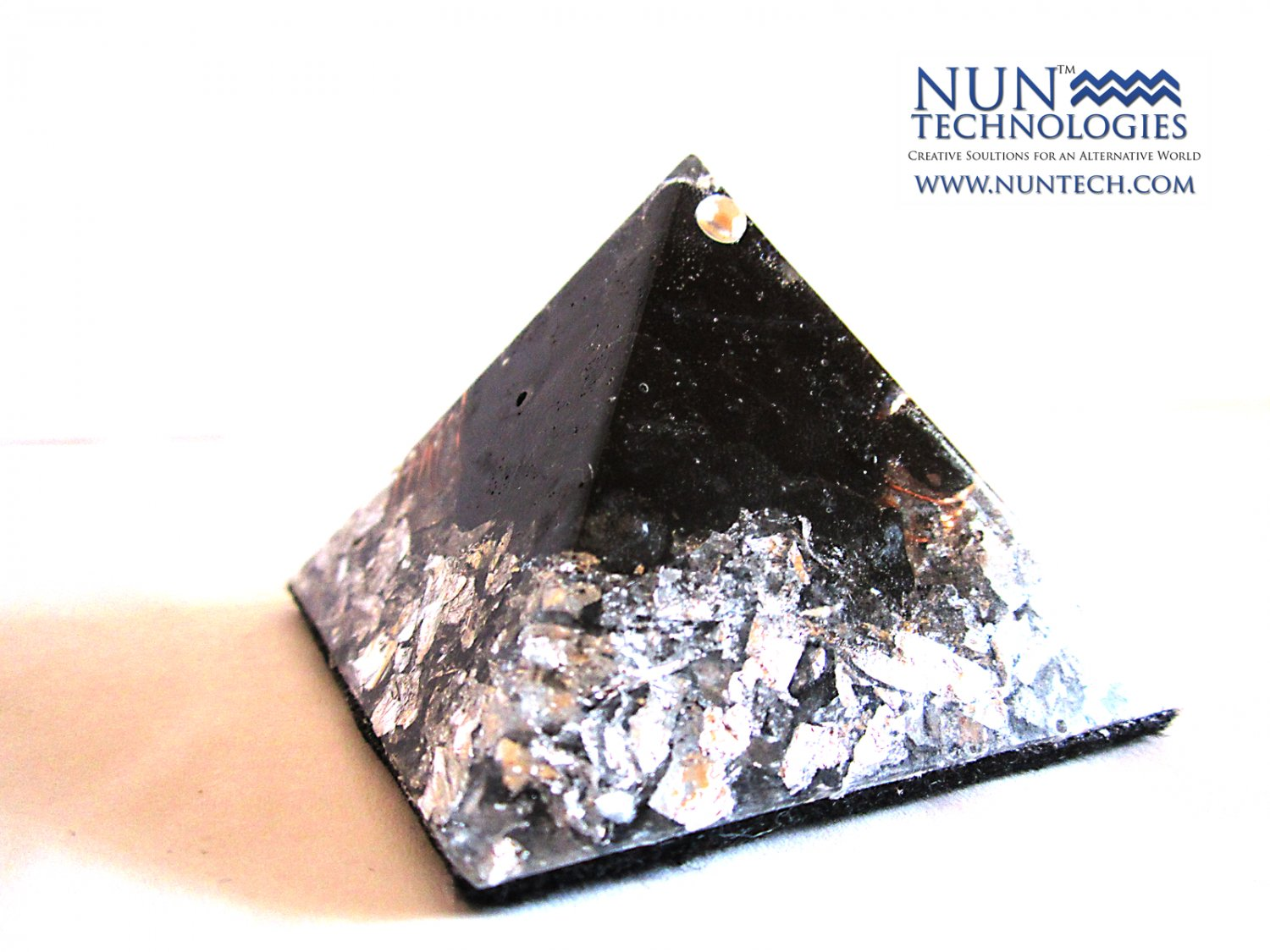 Crystal Orgone Pyramid For Grounding and Mental Stability By DR NEB HERU