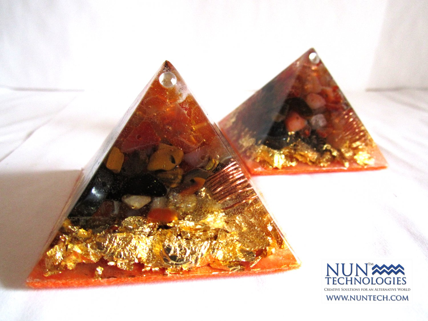 Crystal Orgone Pyramid For Self Confidence and Will Power By DR NEB HERU