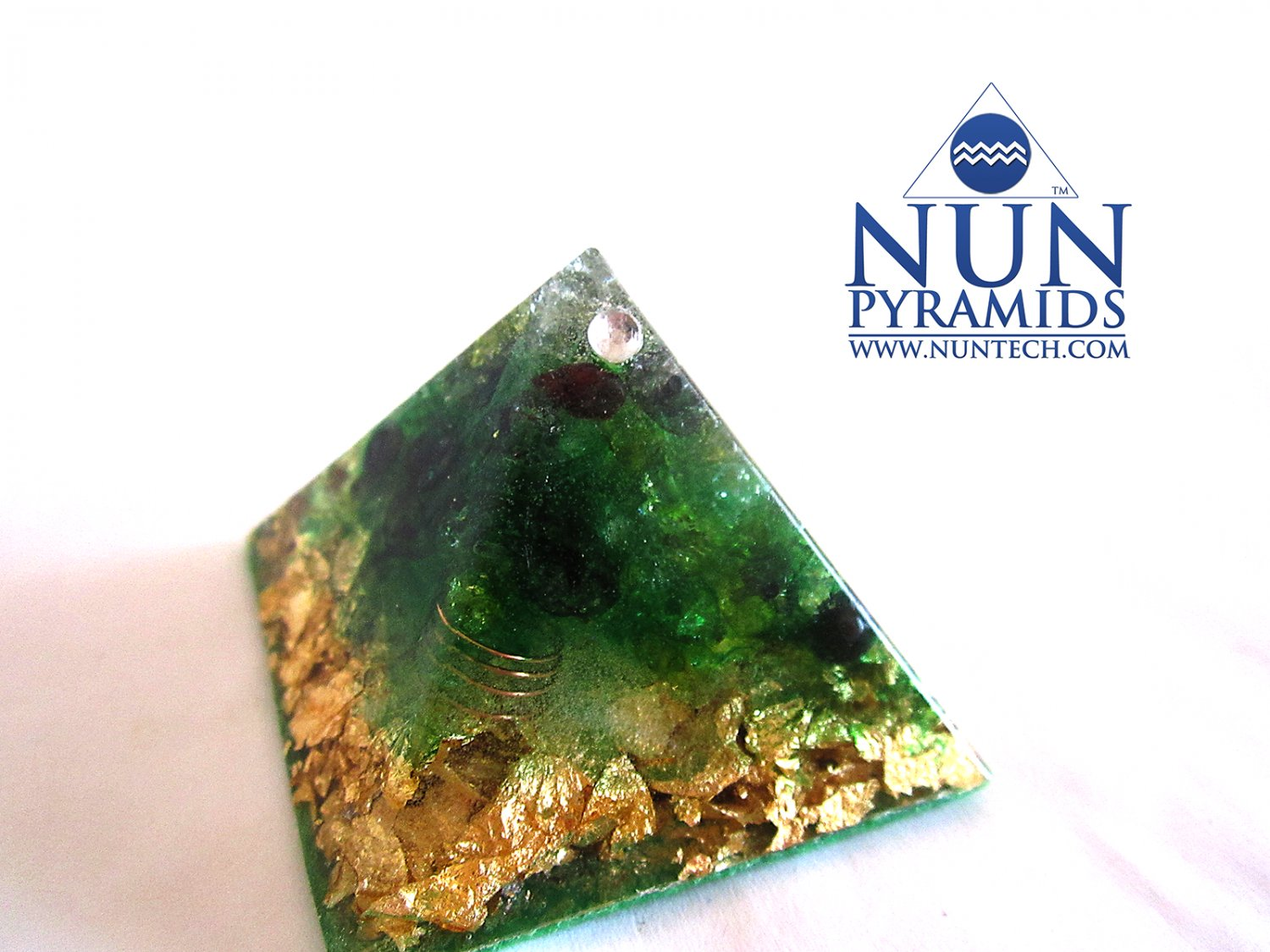 Gaia-Earth Crystal Orgone Pyramid For Staying In Tune with Planet Earth By DR NEB HERU