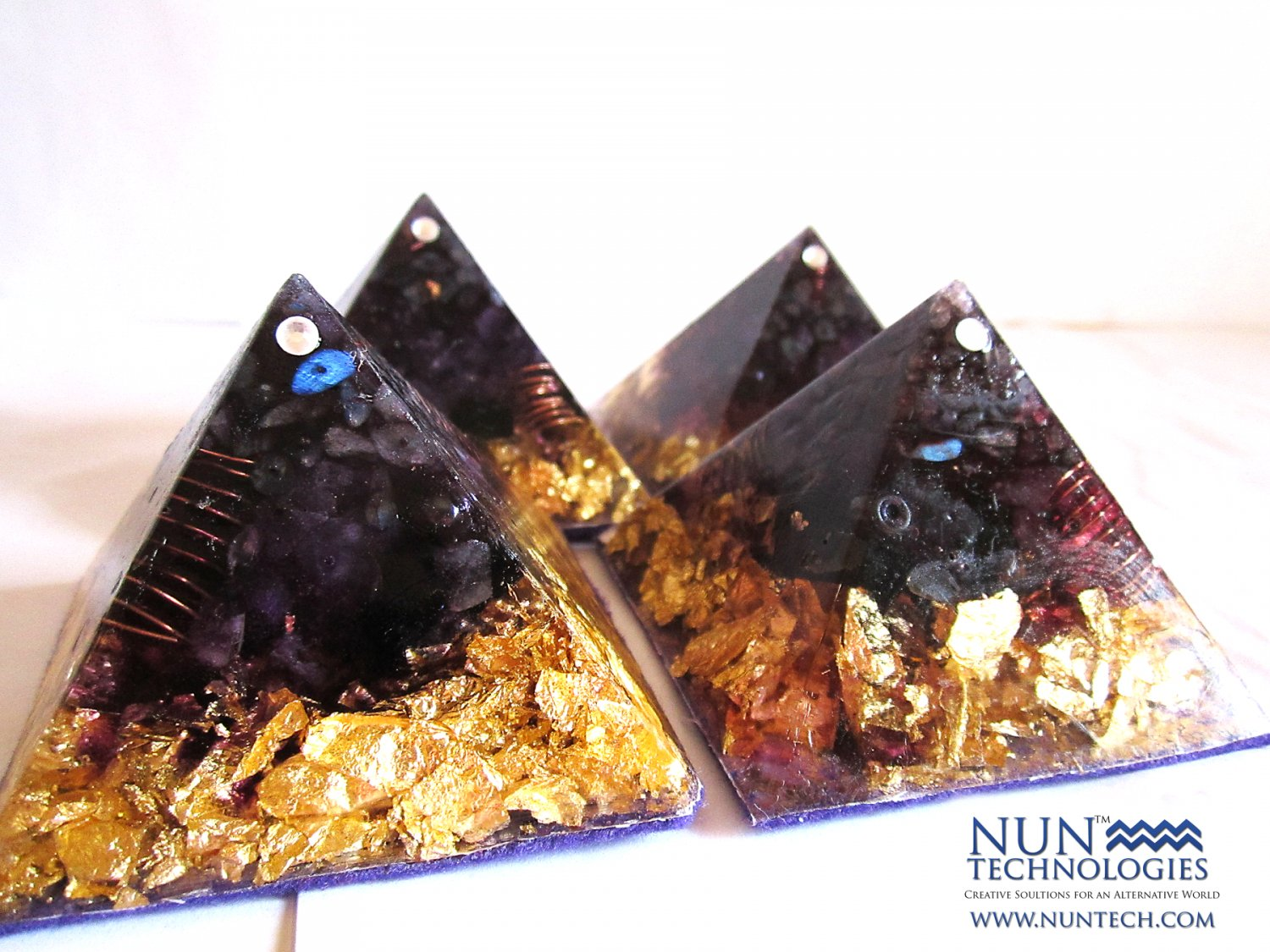 Crystal Orgone Pyramid For Creative Thinking and Pineal Gland By DR NEB HERU