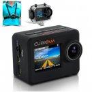 "Waterproof 1080p HD Sports Camera ""Cubicam"" - 5MP, Body Strap + Multi Mount Accessory Kit"