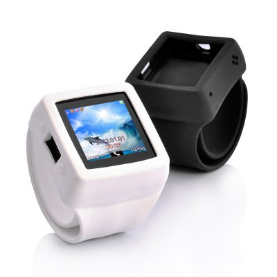 """Mobile Phone Watch """"Slap-On"""" - 1.3MP Camera, Touch Screen, Changeable Straps"""