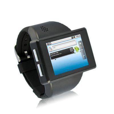 """Android Phone Watch """"Rock"""" - 2 Inch Capacitive Screen, 8GB Micro SD, 2MP Camera (Black)"""