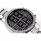 """Blue Crystal LED Watch """"Sapphire"""" - Waterproof, Date Display"""