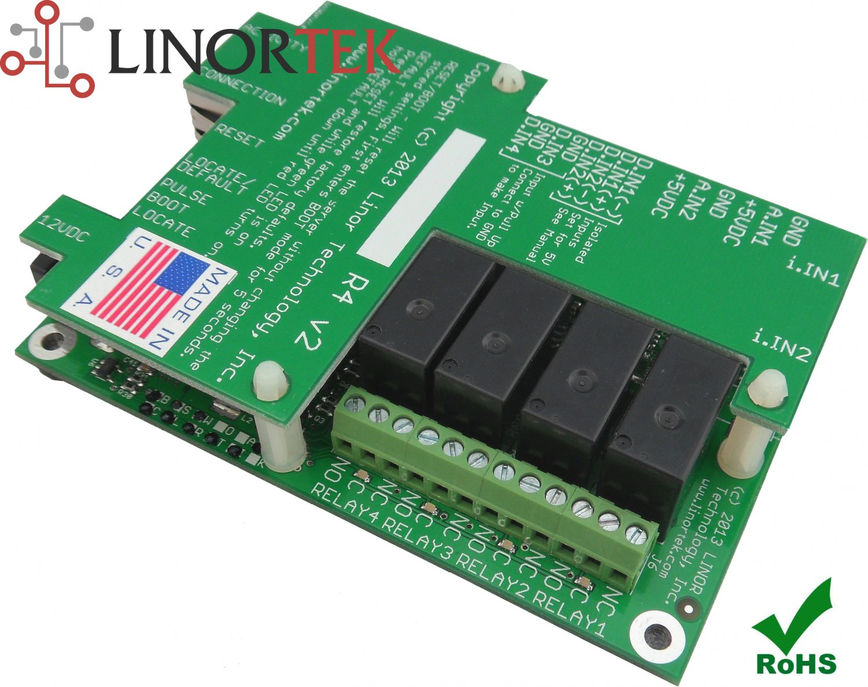 Linortek Fargo R4DI Smartphone & Web Remote Relay Control/Monitor, Web Server, I/O POE