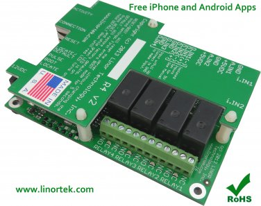 Fargo R4DI Web Remote Control Monitoring Garage Door, Sprinkler POE Free Phone Apps