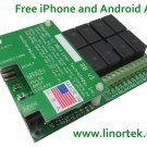 Linortek Fargo R8 Smartphone & Web Remote Relay Control Board with Built In Web Server