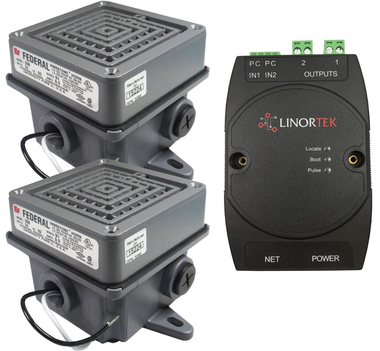 Linortek Netbell-2-2Buz IP-based Extra Loud Alarm Buzzer Factory Warehouse Lunch Break Buzzer System