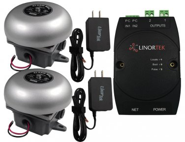 Linortek Netbell-2-2Bel School Break Bell System Factory Lunch Time Alarm Bell Timer Controller