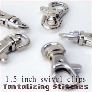 240 SILVER EXTRA LARGE LOBSTER SWIVEL CLASPS - 1.5 INCH
