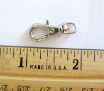 15 Silver Color 1 INCH EXTRA LARGE Lobster Swivel Clasp