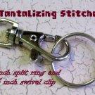 100 nickel plated one inch split rings / key rings