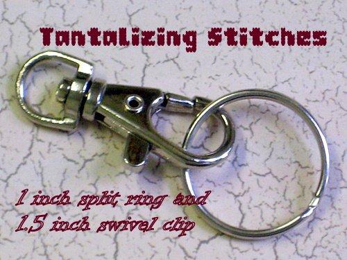 15 nickel one inch nickel plated split key rings