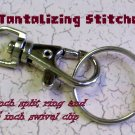 15 nickel one inch nickel plated split key rings