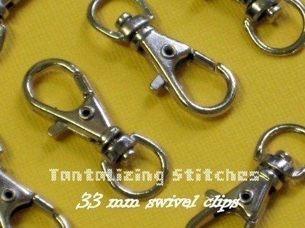 100  Nickel Plated 1.3 INCH EXTRA LARGE Lobster Clips