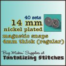 67 Nickel Plated 14 mm Magnetic Snap Closure