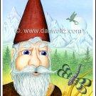 Garden Gnome Print