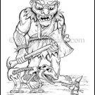 Ogre / Gnome Illustration Print