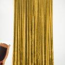 """GOLD - Vintage Blackout 100% Cotton Velvet Lined Curtain Home Theatre Panel-50""""W X 63""""L"""