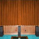 VINTAGE 100% COTTON VELVET BLACKOUT STAGE/THEATRE/STUDIO CURTAIN-Bronze 7FT W X 9FT H
