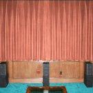 VINTAGE 100% COTTON VELVET BLACKOUT STAGE/THEATRE/STUDIO CURTAIN-Carnation 7FT W X 9FT H