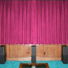 VINTAGE 100% COTTON VELVET BLACKOUT STAGE/THEATRE/STUDIO CURTAIN-FUSCHIA 7FT W X 9FT H
