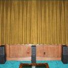 VINTAGE 100% COTTON VELVET BLACKOUT STAGE/THEATRE/STUDIO CURTAIN-GOLD 7FT W X 9FT H