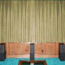VINTAGE 100% COTTON VELVET BLACKOUT STAGE/THEATRE/STUDIO CURTAIN-IVORY 7FT W X 9FT H