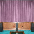 VINTAGE 100% COTTON VELVET BLACKOUT STAGE/THEATRE/STUDIO CURTAIN- LAVENDER 7FT W X 9FT H
