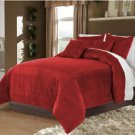 Full/Queen 100% Velvet-Egytian Cotton Reversible CHEMELIA  Duvet Quilt Cover Set 3pc