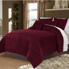 Grapes King/Cal King 100% Velvet & Cotton Reversible Duvet Quilt Cover Set 3pcs