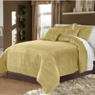Mocha King/Cal King 100% Velvet & Cotton Reversible Duvet Quilt Cover Set 3pcs