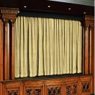 Ivory 100% Vintage Traditional Blackout Velvet Curtain Theater Panel - 9W by 9H ft
