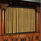 Mocha 100% Vintage Traditional Blackout Velvet Curtain Theater Panel - 9W by 9H ft