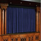 Navy Blue 100% Vintage Traditional Blackout Velvet Curtain Theater Panel - 9W by 9H ft